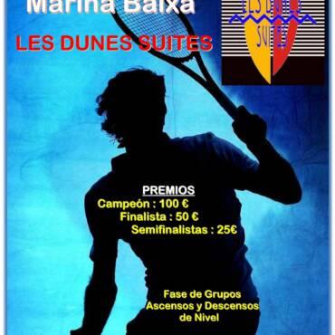 VI Liga de Tenis Marina Baixa «Trofeo Les Dunes Suites»